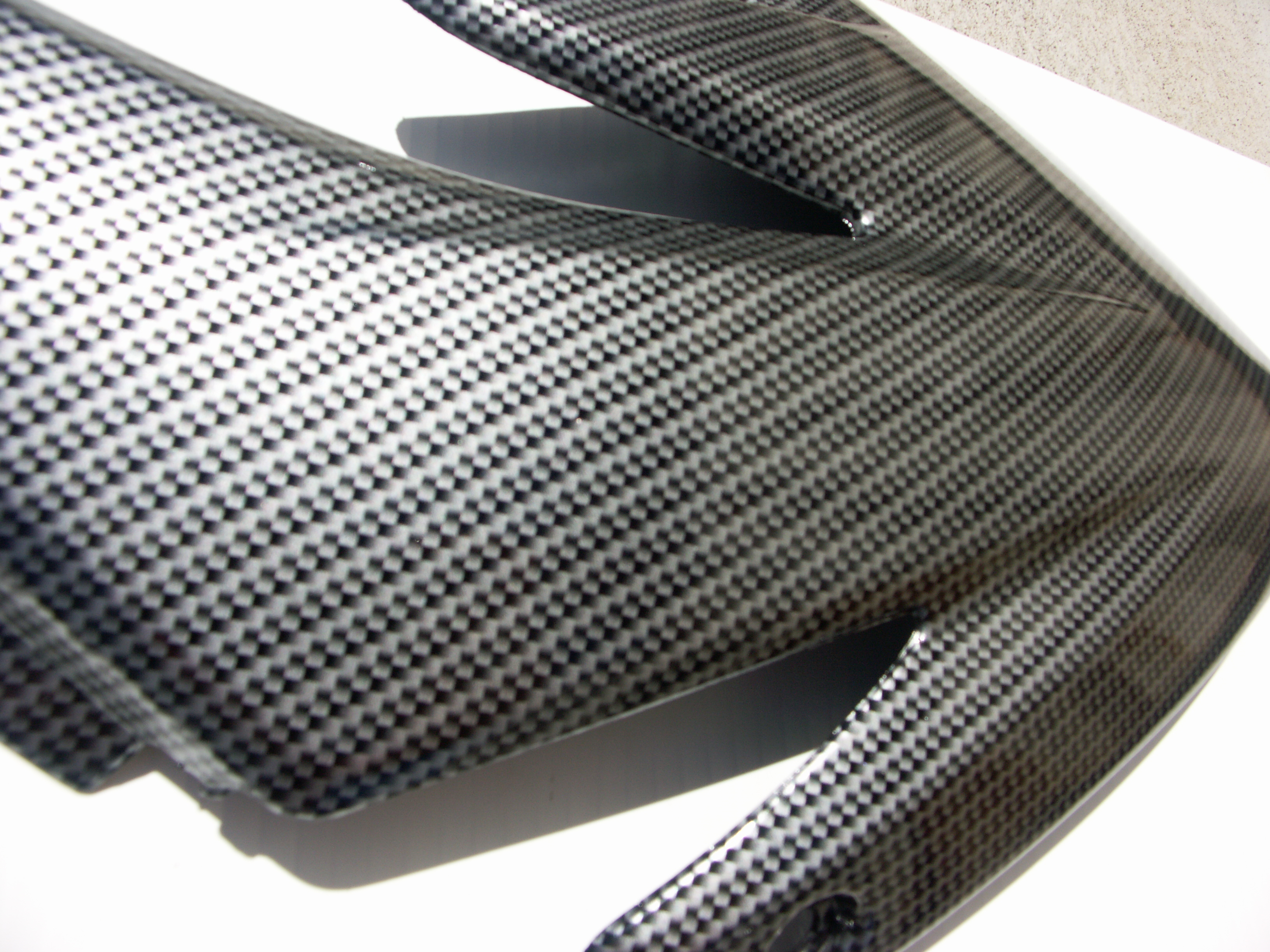 Bike Fairing - Silver Carbon Fibre