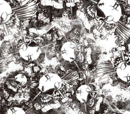Black & Clear Big Skulls